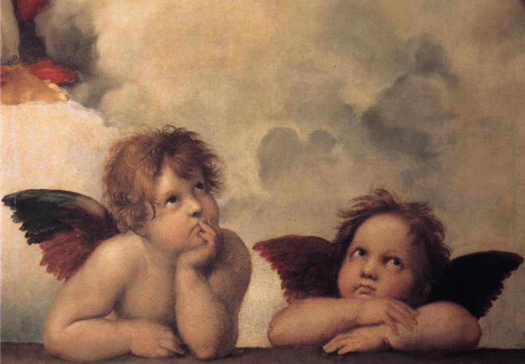 Détail de la fresque de la Chapelle Sixtine