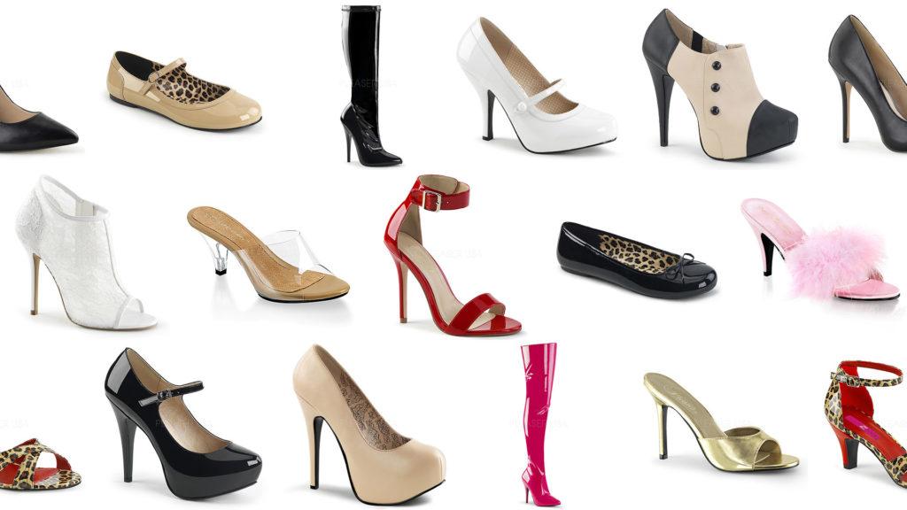 Mosaïque de chaussures