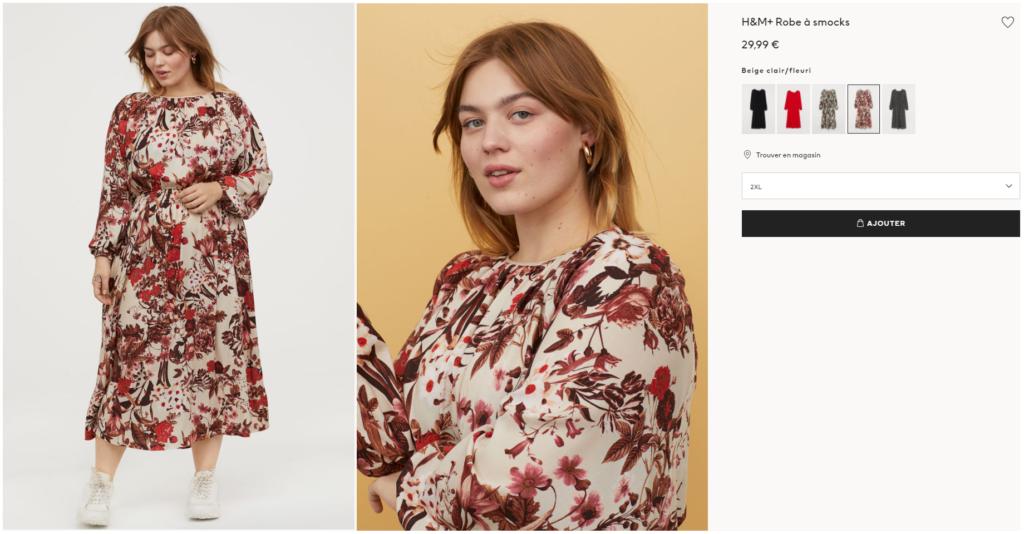 Mode - Robe H&M en grande taille